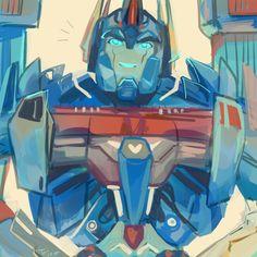 Transformers Prime Ultra Magnus.... smiling????