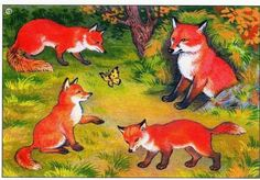 Pin by Tatjana Tomic-Obradovic on edukativni materijal Sequencing Cards, Forest Animals, Cartoon Kids, Animals For Kids, Cool Artwork, Animal Pictures, Woodland, Cross Stitch, Clip Art