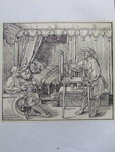 DÜRER ZEICHNER SITZENDEN MANNES DER KANNE 2 Reproduktionen Kunstdruck art print