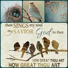 """How Great Thou Art"" - then sings my soul my Savior God to thee. How great thou art, how great thou art. Scripture Art, Bible Verses, Bible Art, Then Sings My Soul, Angel Prayers, Pallet Art, God First, Praise And Worship, God Jesus"