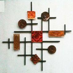 Wood and Metal Wall Art - Tin Punching