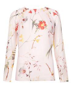 Botanical bloom print top - Pale Pink | Tops & Tees | Ted Baker