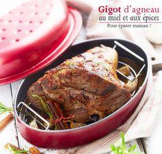 Recette du gigot d'agneau au miel et aux épices… Savoureux week-end en perspective ! #recette #blancheporte