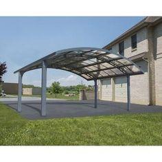 The Arch-Style Arizona Breeze Double Carport of palram is a uniquely designed high performance and robust carport. Carport Canopy, Pergola Carport, Backyard Pergola, Pergola Plans, Pergola Kits, Gazebo, Pergola Ideas, Steel Pergola, Patio Ideas
