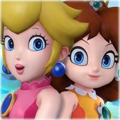 Steam ワークショップ :: Princess Peach and Daisy - Swimsuits Super Mario Bros, Super Mario Brothers, Super Smash Bros, Princesa Daisy, Princesa Peach, Super Mario Princess, Nintendo Princess, Mario Run, Mario And Luigi
