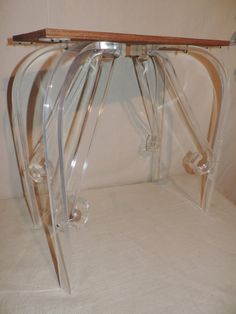 Hey, I found this really awesome Etsy listing at https://www.etsy.com/listing/215912288/lucite-side-table-mid-century-side-table