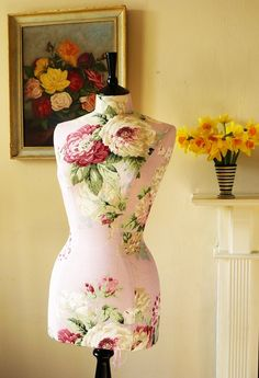 Laura Ashley Roses Tailored Mannequin Dressform - Cecilia by Corset Laced Mannequin - http://www.etsy.com/shop/CorsetLacedMannequin