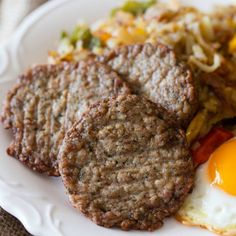 Breakfast sausage and eggs - Breakfast sausage is our signature product at Jones Dairy Farm. Weuse the same ingredients that Milo Jones used more than 128 years ago when he started the company—pork, water, salt and spices. The result is an array of all-natural, Certified Gluten-Free breakfast sausage links, patties and roll sausage that have become a staple on breakfast tables throughout the country. #certifiedpaleo #paleo #paleofoundation