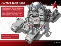 Emperor Tesla Tank - 2008 by Magnafires on DeviantArt Star Wars Concept Art, Weapon Concept Art, Game Concept, Army Vehicles, Armored Vehicles, Command And Conquer, Expedition Vehicle, Knights Templar, War Machine