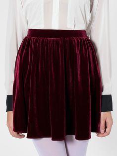 American Apparel - Stretch Velvet Skirt