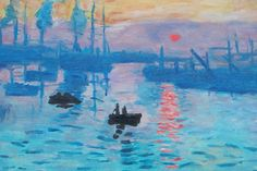 Paint Impression Sunrise Step by Step in the Style of Monet in Oils Impressionist Paintings, Landscape Paintings, Artist Monet, Most Famous Paintings, Painting Videos, Claude Monet, 2 Colours, Art Tutorials, Sunrise