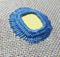 Shisha Embroidery Stitch Variation. via Mary Corbet's needle n thread