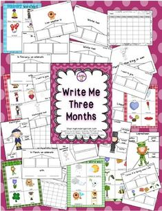 monthly writing activities for kindergarten