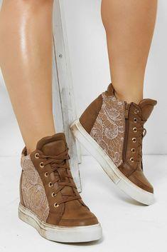 Tan Brown Hidden Wedge Heel Sneakers Trainers Plimsoll High Top Boots UK 3 4 5 7 #Unbranded #FashionTrainers Wedge Heel Sneakers, Sneaker Heels, Wedge Heels, Shoes Heels, High Top Boots, Plimsolls, High Tops, Trainers, Wedges