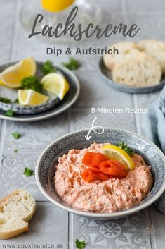 Lachscreme (Quick Dip & Spread) Keks und Co. Finger Food Appetizers, Healthy Appetizers, Appetizers For Party, Appetizer Recipes, Amazing Food Photography, Quick Dip, International Recipes, Salmon Recipes, Food Processor Recipes