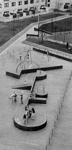 Architecture of Doom — bluecote: play area, lewisham, london. Urban Landscape, Landscape Design, Aldo Van Eyck, Public Space Design, Public Spaces, Parks, Playground Design, Children Playground, Space Architecture