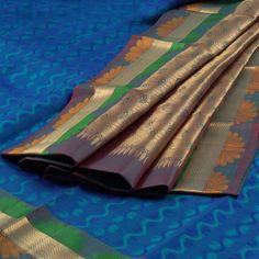 Handwoven Kanchipuram Silk Saree with 10002146 AVISHYA.COM