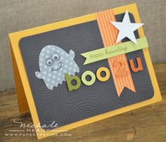 Boo 2 U Card by Nichole Heady for Papertrey Ink (August 2012)