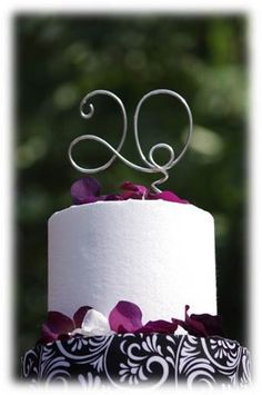 Number Cake Topper for Baby Tween Teen Birthday Party, Anniversary, Engagement Party Cake. $15.00, via Etsy.
