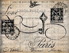 Antique French Key Shop Love Bird Paris France by AntiqueGraphique, $1.00