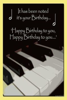 Happy Birthday Piano card Poster - Happy Birthday Funny - Funny Birthday meme - - Happy Birthday Piano card Poster The post Happy Birthday Piano card Poster appeared first on Gag Dad. Happy Birthday Piano, Happy Birthday Notes, Happy Birthday Meme, Best Birthday Wishes, Happy Birthday Sister, Happy Birthday Images, Happy Birthday Greetings, Birthday Messages, Man Birthday