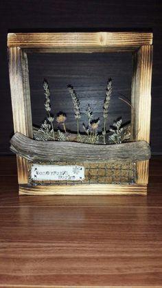 廃材と流木をバーニング/ダイソーの焼き網/自作DIY