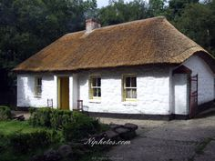 Thatched cottage at the Ulster Folk Museum near Hollywood in County Down, Northern Ireland.