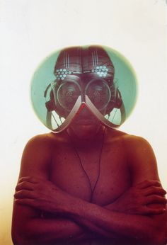 Haus-Rucker-Co, Environment Transformer/Flyhead Helmet, Archive Zamp Kelp. Photo © Haus-Rucker-Co, Gerald Zugmann. Minneapolis, Transformers, Hippie Designs, Hippie Movement, Hippie Culture, Creators Project, Space Fashion, Game Of Thrones Art, Dangerous Minds