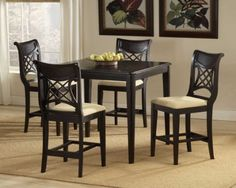 Hillsdale D4783-835-4784 Glenmary Counter Height Dining Collection - Dark Cherry by Hillsdale. $887.00. Glenmary Counter Height Dining Collection - Dark Cherry by Hillsdale D4783-835-4784. Finished in a dark cherry or classic oak, our Bayberry collection combines the clean lines of a transitional design with the unique addition of a bamboo effect in the chair back. The chairs and stools have a cream colored fabric seat. The matching tables, available in both round a...
