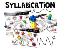 Syllabication Activities for First Grade and Kindergarten - great for independent work, centers, or small group guided reading warm-ups!  Hands-on, relevant, and engaging!  These activities provide tactile and visual relationships to foundational skills!