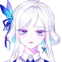 Credits to the artist 💜 #digitalart #art #girl #whitehair