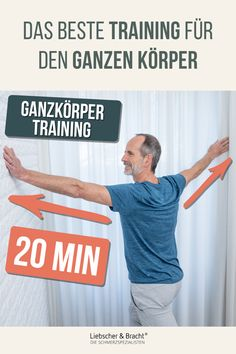Back, neck, hips, feet - you can hardly count the tense spots on your body? Then you are exactly right here! Pain specialist Roland Liebscher-Bracht shows you a whole body routine to which you only have to devote 20 minutes of your precious time. Fitness Workouts, Fitness Motivation, Pilates Workout Routine, Yoga Routine, Bodybuilding, 20 Minute Workout, Evening Meals, Health Fitness, Sports