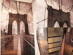 Picture on furniture, New York Bridge,  #szafa  #decorating #design #furnituredesign #furniture #warsaw #poland #meble #wardrobe  #szafa  #decorating #design #furnituredesign #furniture #warsaw #poland #meble #wardrobe #inspiration #homedecor #fittedfurniture   #fittedkichens #fittedkichen