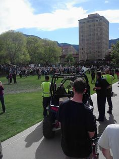 """""""Wyclef decided to join the protest. So much for the concert,"""" says CU student Skylar Ivancie. #cu420 (Photo credit: Skylar Ivancie)"""