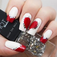 19 Amazing Valentine's Day Nails Ideas. The blonde in the pic.