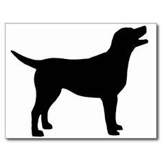 labrador silhouette | Black Lab Silhouette
