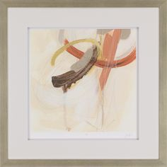 Upstage I. Bold strokes of orange color are offset with raised white matting. Framed in silver wood molding. Painting Frames, Painting Prints, Abstract Wall Art, Frames On Wall, Wall Prints, Framed Art, Picture Frames, Graphic Art