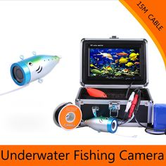 """172.69$  Watch more here - http://ai60s.worlditems.win/all/product.php?id=32803807518 - """"Best Quality 7"""""""" Video Fish Finder 1000TVL Lights Controllable Underwater Fishing Camera Kit 15/30M Ice Lake Under Water Fish Cam"""""""
