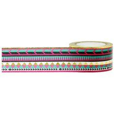 Little B - Little B Decorative Foil Tape 25mmX10m - Gold Foil Tribal