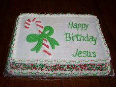 Cute Cake and perfect for the Candy Cane (J = Jesus) lesson! :)
