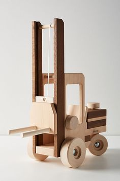 Wooden Construction Toy Collection by Anthropologie in Brown, Kids woodworking