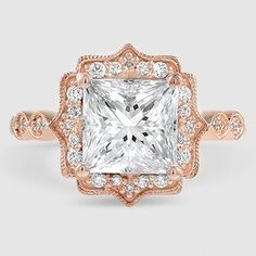 """Admired by brides, halo diamond engagement rings really are a signature type of Ritani. Halo rings have a central round stone encircled with a """"halo"""" of smaller sized diamonds or gemstones. Cushion Cut Diamond Ring, Rose Gold Diamond Ring, Diamond Gemstone, Halo Diamond, Diamond Jewelry, Diamond Cuts, Gemstone Rings, Real Gold Jewelry, Modern Jewelry"""