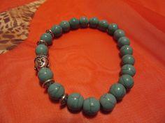 Budha bracelet tourquoise stones de Victoriaprettyangels en Etsy
