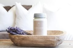 Vintage Farmhouse Home Decor - You can never go wrong with the scent of soothing top notes of lavender and soft touches of woody undertones~ PC: Erica from Our Humble Nest