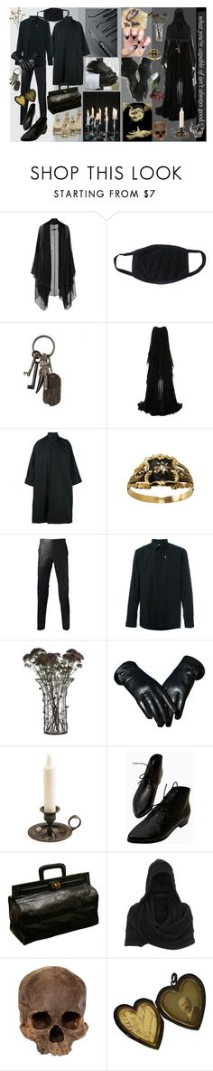 """""""the undertaker and the harbinger"""" by ju-on ❤ liked on Polyvore featuring The Row, AllSaints, Elie Saab, Issey Miyake, Lanvin, Givenchy, Pamela Love, Gestuz and Chris Habana"""