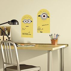 2 New DRY ERASE MINIONS WALL DECALS Despicable Me Stickers Kids Bedroom D?cor @ niftywarehouse.com #NiftyWarehouse #Nerd #Geek #Entertainment #TV #Products