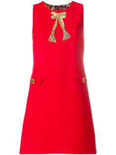 DOLCE & GABBANA appliqué A-line dress. #dolcegabbana #cloth #