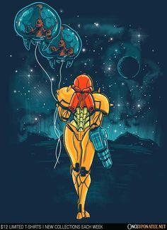 Gorgeous Metroid art at Once Upon a Tee - Imgur