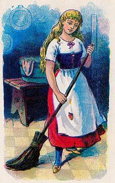 Vintage Fairy Tale Clip Art – Cinderella