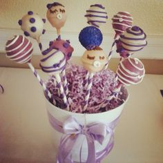 Oh baby cake pops! Baby Cake Pops, Bakery, California, Desserts, Food, Tailgate Desserts, Deserts, Essen, Postres